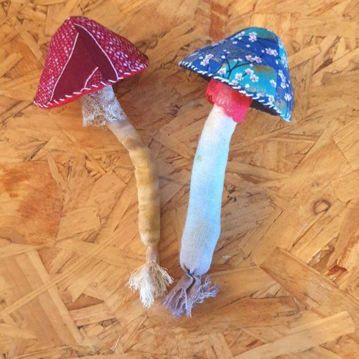 Fabric Mushroom Brooch, Mushroom pin, mushroom brooch, fabric mushroom