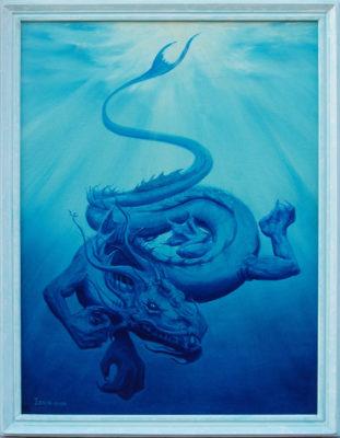 painting, dragon art, Izhar Rott,