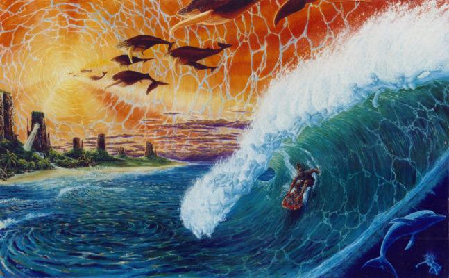 magic carpet ride, painting, psychedelic art, Izhar Rott, Shaun Herron