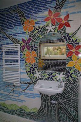 mozaik art, Izhar Rott, bathroom design