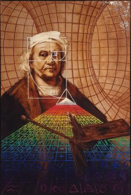 painting, psychedelic art, Izhar Rott, Rembrandt
