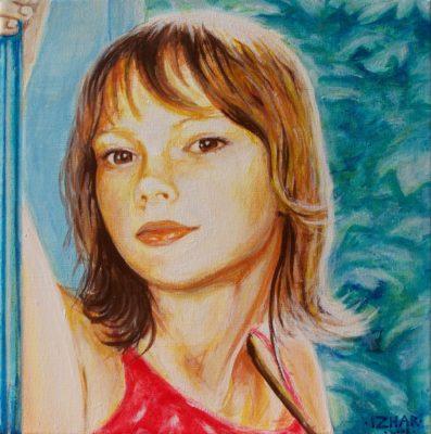 painting, portrait art, Izhar Rott,
