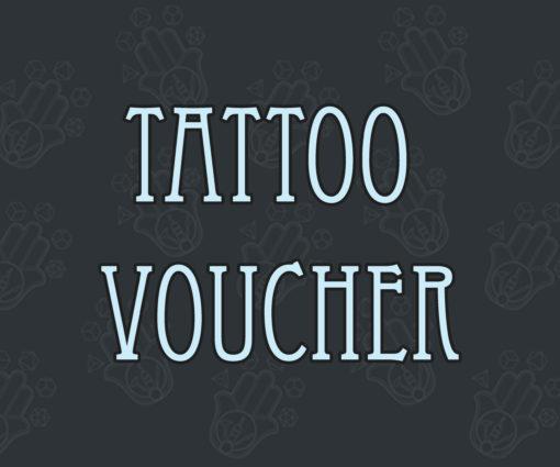 Tattoo voucher, gift voucher, tattoo gift, Manifacto Amsterdam