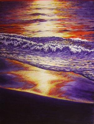 painting, sea art, Izhar Rott,