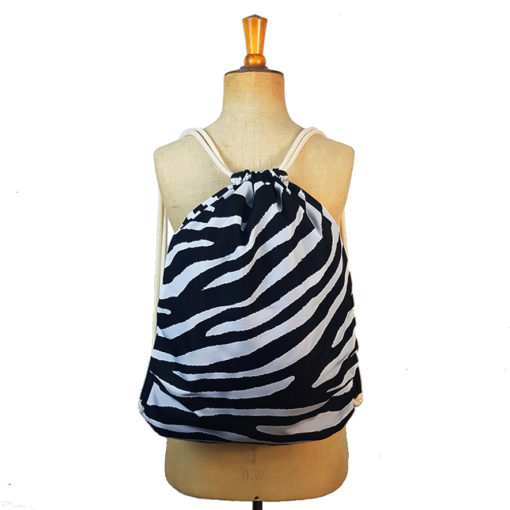 Drawstring bag, zebra bag, backpack