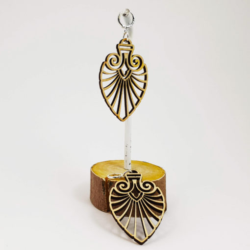 Lasercut wood, geometric earrings, Psywear, tribal jewellery, Sacred Geometry Jewelry,