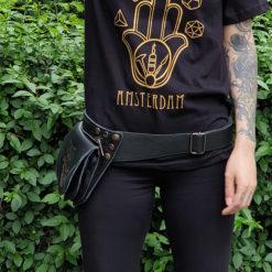 Bum bag, festival bag, psywear, leather bag, waist bag
