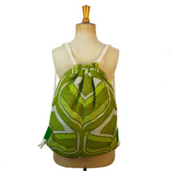 Drawstring bag, recycled bag, backpack, vintage fabric, vintage bag