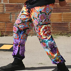 """""""Dance of the Turtles"""" cargo trousers 