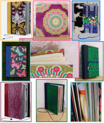 Book binding, books, handmade