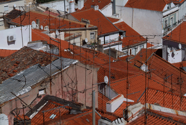 Lisbon rooftops, photo of Lisbon, Portugal