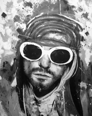 Manon Light Art Painting, kurt cobain painting