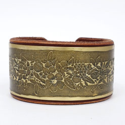 Flower Brass Bracelet