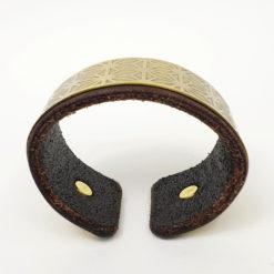 Asanoha Bracelet, Geometric Bracelet, Brass bracelet, Leather bracelet, Psywear, tribal jewellery, Sacred Geometry Jewelry, brass cuff bracelet, Bangle Bracelet, Unique Jewelry, etched cuff