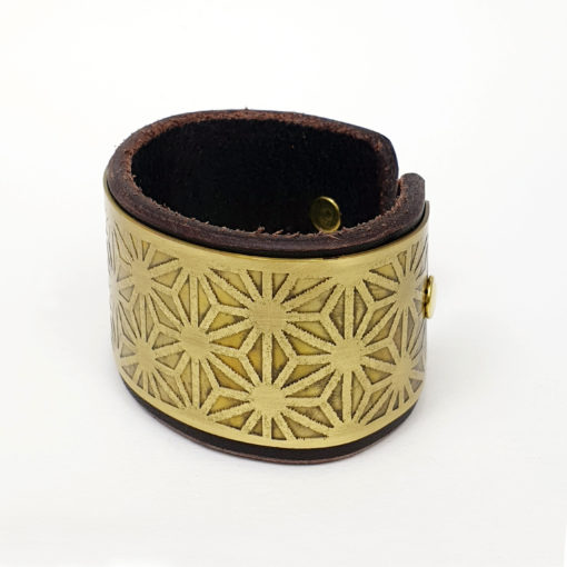 Asanoha Brass Bracelet