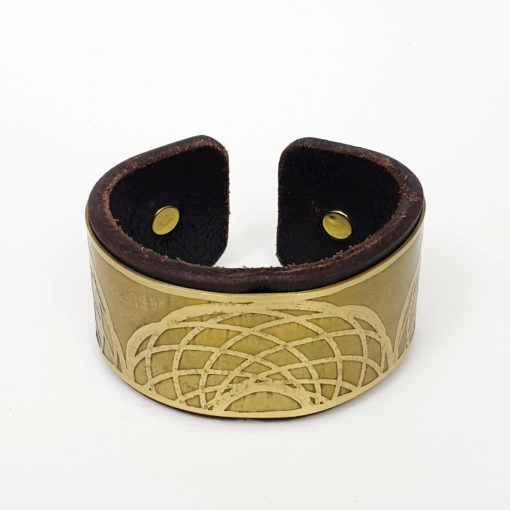 Geometric Brass Bracelet