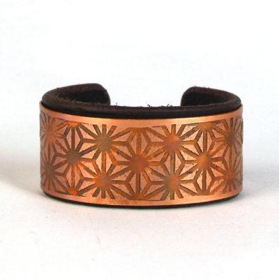 Asanoha Copper Bracelet