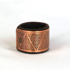 copper bracelet, Sacred geometry bracelet, Leather bracelet, Psywear, tribal jewellery, Sacred Geometry Jewelry, Copper cuff bracelet, Bangle Bracelet, Unique Jewelry, etched cuff, Copper bangle