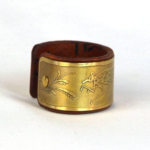 Damselfly bracelet, Brass bracelet, Leather bracelet, Psywear, tribal jewellery, Sacred Geometry Jewelry, brass cuff bracelet, Bangle Bracelet, Unique Jewelry, etched cuff