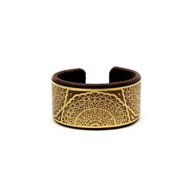 Sacred geometry bracelet, brass bracelet, Mariana Oliveira, hand made bracelet