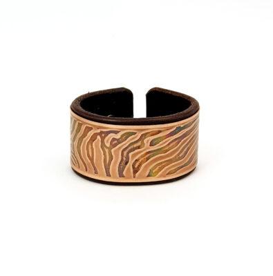 Sacred geometry bracelet, copper bracelet, Mariana Oliveira, hand made bracelet, zebra, animal print