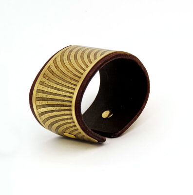 Sacred geometry bracelet, brass bracelet, Mariana Oliveira, hand made bracelet, bridget Riley inspired