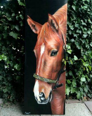 horse painting, acrylic painting animal art, light art tattoo, Manon Light Art Painting