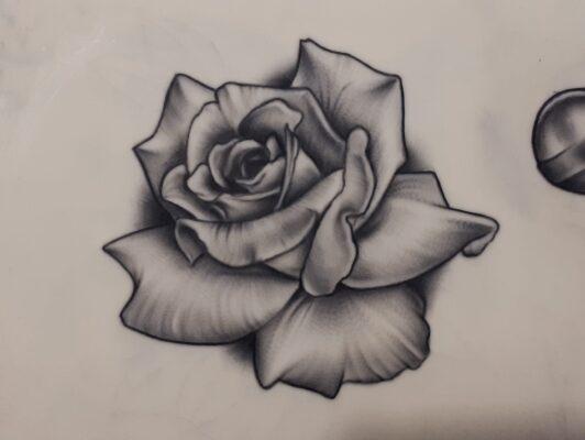 tattoo design, light art tattoo, fake skin tattoo, rose tattoo