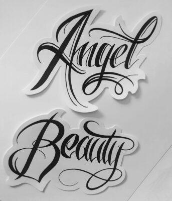 tattoo design, light art tattoo, calligraphy tattoo