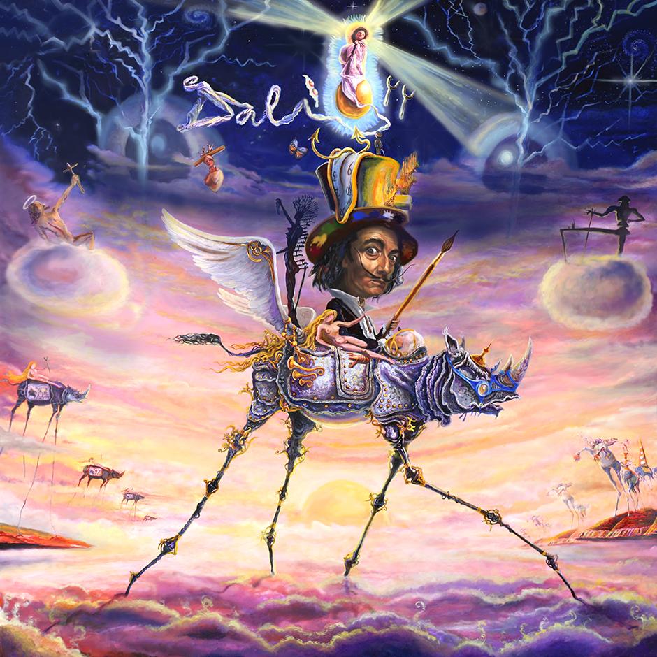Kamiel Proost, painting of Dali Heaven, Amsterdam artist