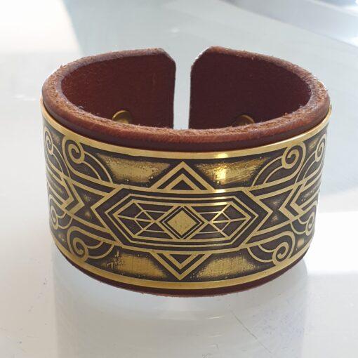 Brass bracelet, sacred geometry bracelet