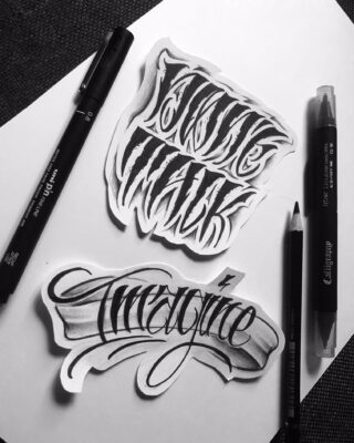 Lightart tattoo, calligraphy, tattoo design, tattoo flash