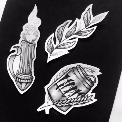 Lightart tattoo, tattoo flash, tattoo designs