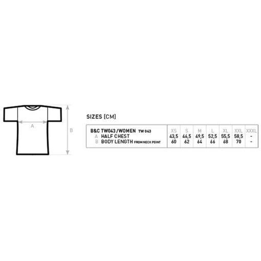 size chart slim fit tshirts